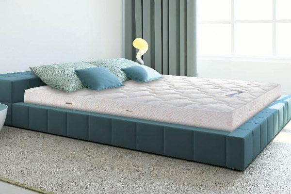 bed with new mattress